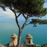 Ravello na costa de Amalfi fotografia de stock