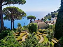 Ravello, Ιταλία Βίλα Rufolo στοκ εικόνες
