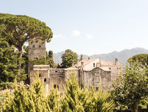 Ravello's beautiful views and buildings royalty free stock photo