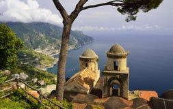 Ravello sur la côte d'Amalfi, Campanie - Italie Image stock
