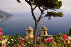 Ravello sur la côte d'Amalfi, Italie Photos stock