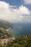 Ravello view looking towards Maiori and Minori Stock Photography