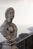 Ravello, Villa Cimbrone on a cloudy summer day, the statue of a woman ,the Amalfi coast, Italy Stock Photos
