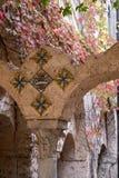 ravello włochy Zamyka w górę przyklasztornego Fotografia brać przy ogródami willa Cimbrone na Amalfi wybrzeżu Fotografującym wewn obraz stock