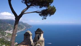 Ravello wioska, Amalfi Włochy wybrzeże zdjęcie wideo