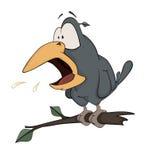 Raven cartoon Royalty Free Stock Photo