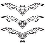 Raven con le ali spante Illustrazione di Stock