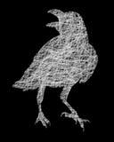 Raven Crow bird silhouette Royalty Free Stock Photo