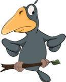 Raven from a fairy tale. Cartoon Stock Photos