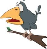 Raven from a fairy tale. Cartoon Royalty Free Stock Photos