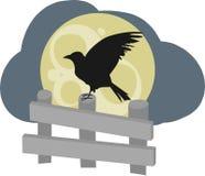 Raven On Fence Royalty Free Stock Photo