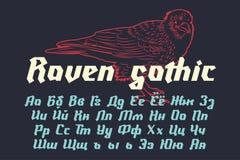 Raven Gothic - police moderne décorative illustration libre de droits