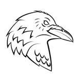 Raven Head Tattoo Imágenes de archivo libres de regalías