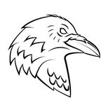 Raven Head Tattoo Royalty Free Stock Images