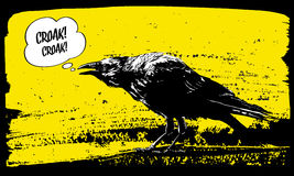 Raven illustration. Royalty Free Stock Images