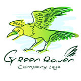 Raven. Image of a green raven. Company logo Royalty Free Stock Image