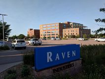 Raven Industries. In downtown Sioux Falls, SD. Raven makes hot air balloons and a variety of other advanced textile products Royalty Free Stock Photos