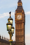 Raven on lampost at Houses of Parliament in early winter morning Stock Photo