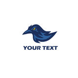 Raven Logo  Mascot Vector. Design Royalty Free Stock Image
