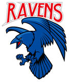 Raven mascot Royalty Free Stock Photo