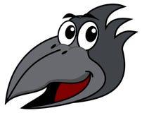 Raven's head. A grey illustration Royalty Free Stock Photo