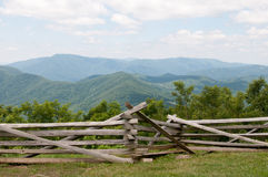 Raven`s Roost Overlook, Blue Ridge Parkway Mountains Stock Photography
