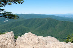 Raven`s Roost Overlook, Blue Ridge Parkway Mountains Royalty Free Stock Images