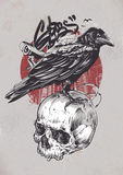Raven On Skull libre illustration