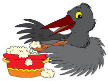 Raven (vector clip-art). Vector clip-art / children's illustration for your design Royalty Free Stock Photo