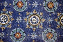 Ravena, Italia - 18 de agosto de 2015 - los mosaicos bizantinos de 1500 años de la UNESCO enumeró la basílica del santo Vitalis e Foto de archivo libre de regalías