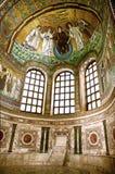 Ravena, San Vitale, mosaico famoso Imágenes de archivo libres de regalías