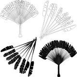 Ravenala - чертеж вектора пальмы вентилятора Стоковые Изображения