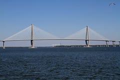 Ravenel桥梁在查尔斯顿, SC 库存图片