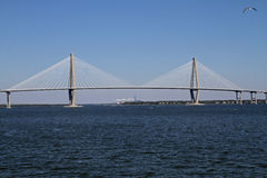 Ravenel Bridge in Charleston, SC Stock Image
