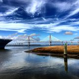 Ravenel Bridge Royalty Free Stock Images