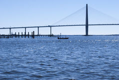 Ravenel Jr Bridge over Cooper River Stock Photos