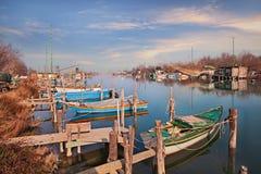 Ravenna, Emilia Romagna, Itália: paisagem do pantanal no Fotos de Stock