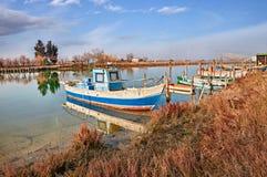 Ravenna, Emilia Romagna, Italy: the wetland in the Po Delta Park Royalty Free Stock Image