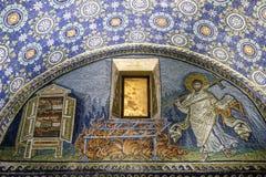 Ravenna emilia romagnaItalien Europa mausoleum av den galla placidaen royaltyfri foto