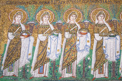 Ravenna, Itália - 7 de julho de 2016 - bizantinos dos mosaicos imagem de stock
