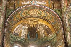 Ravenna, Italië - 7 juli 2016 - Mozaïeken Byzantium stock fotografie
