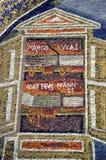 Ravenna, Italia - 18 agosto 2015 - i mosaici bizantini di 1500 anni dall'Unesco ha elencato la basilica del san Vitalis a Ravenna Immagine Stock