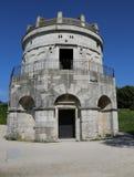 Ravenna Italien ingång till mausoleet av Theoderic arkivfoto
