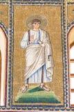 Ravenna Italien - 7 juli 2016 - basilika av San Vitale mosaiker Arkivfoto