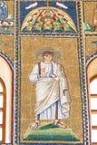 Ravenna Italien - 7 juli 2016 - mosaikByzantines Arkivfoton