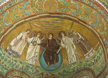 Ravenna in Italy. One of the  mosaics of the basilica of San vitale in Ravenna in Italy Royalty Free Stock Image
