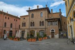 A square in the center of Ravenna, Italy stock images