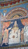 Ravenna, Italy - 18 AUGUST, 2015 - 1500 years old Byzantine mosaics from the UNESCO listed basilica of Saint Vitalis in Ravenna, I. Taly Stock Image