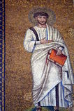 Ravenna, Italy - 18 AUGUST, 2015 - 1500 years old Byzantine mosaics from the UNESCO listed basilica of Saint Vitalis in Ravenna, I. Taly Stock Photos