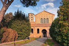 Ravenna, Italy: basilica of Sant`Apollinare in Classe. Ancient italian cathedral and important monument of byzantine art Royalty Free Stock Photo